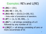 examples re s and l re