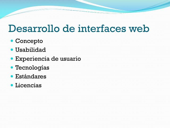 Desarrollo de interfaces web