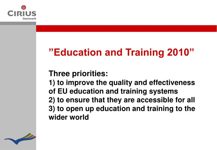 """Education and Training 2010"""