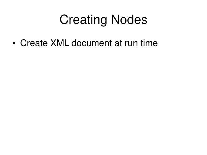 Creating Nodes