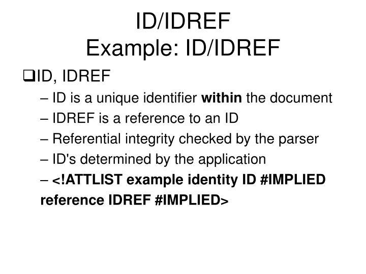 ID/IDREF