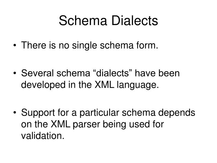 Schema Dialects