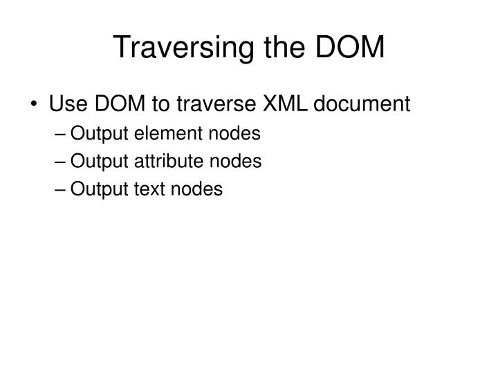 Traversing the DOM