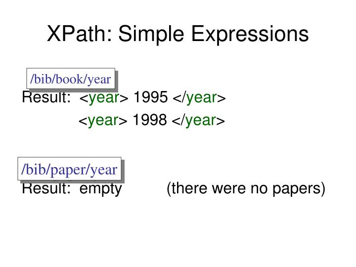 XPath: Simple Expressions