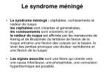 le syndrome m ning