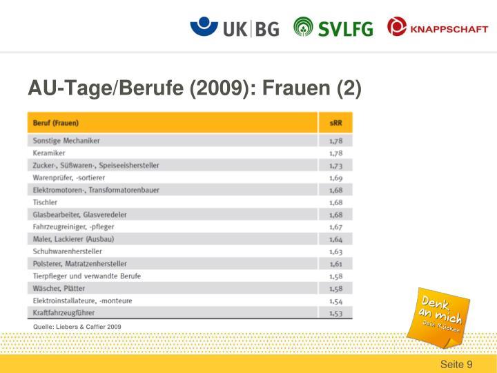 AU-Tage/Berufe (2009): Frauen (2)