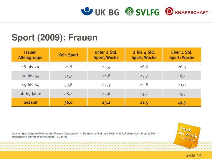 Sport (2009): Frauen