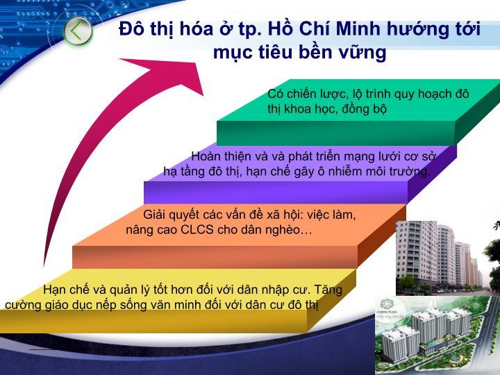 Đô thị hóa ở tp. Hồ Chí Minh hướng tới mục tiêu bền vững