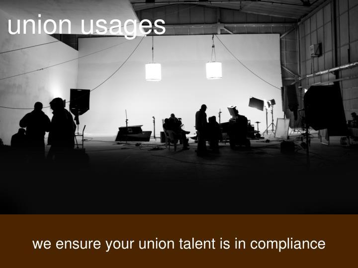 union usages