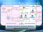 generate then weave approaches 2
