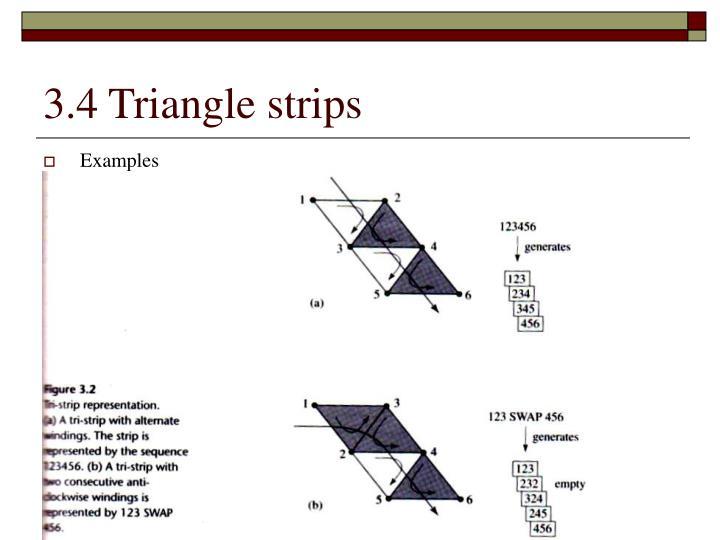 3.4 Triangle strips