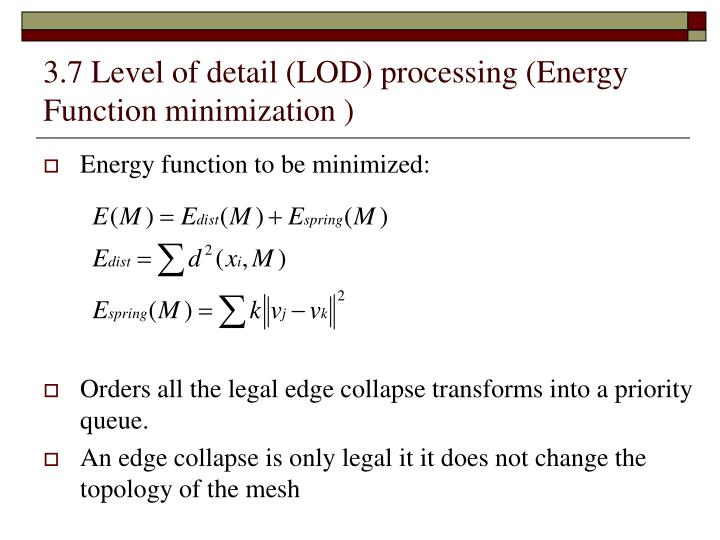 3.7 Level of detail (LOD) processing (