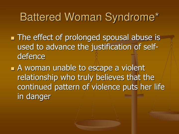 theories on battered womens syndrome Criminal justice crime domestic violence battered woman syndrome as a legal defense battered woman syndrome theory as applied to battered women.