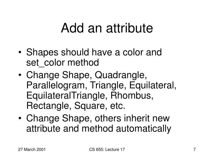 Add an attribute