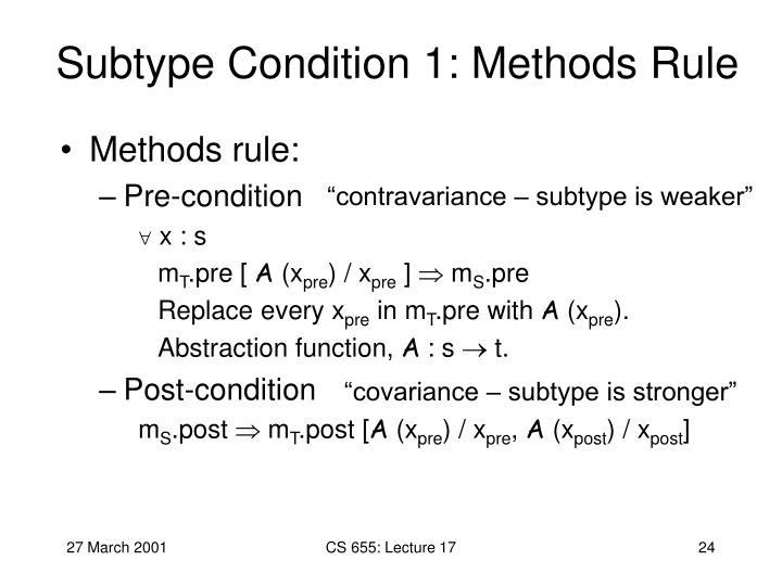 Subtype Condition 1: