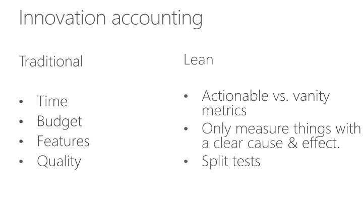 Innovation accounting
