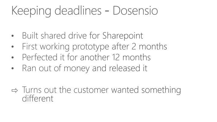 Keeping deadlines - Dosensio