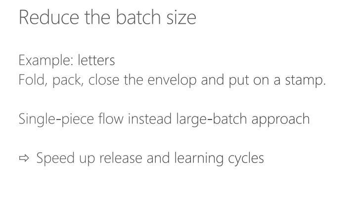 Reduce the batch size