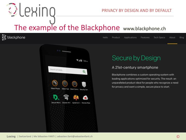 The example of the Blackphone