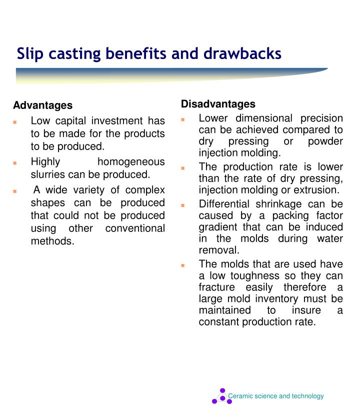 PPT - Slip casting benefits and drawbacks PowerPoint