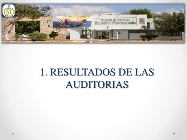 1. RESULTADOS DE LAS AUDITORIAS