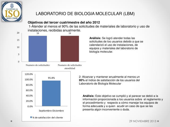 LABORATORIO DE BIOLOGIA MOLECULAR (LBM)