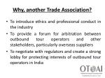 why another trade association2