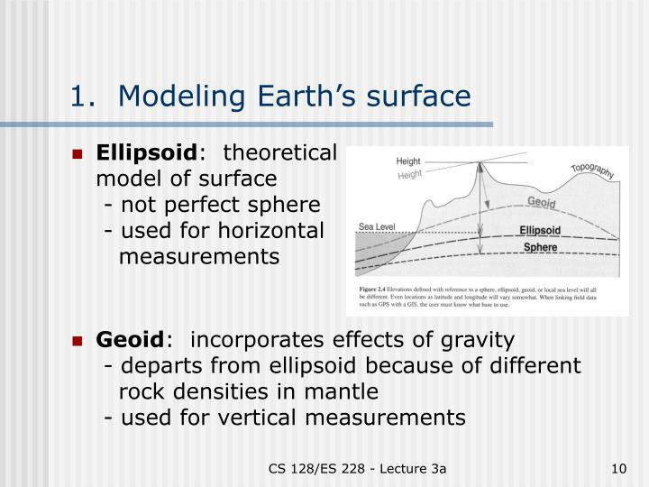 1.  Modeling Earth's surface