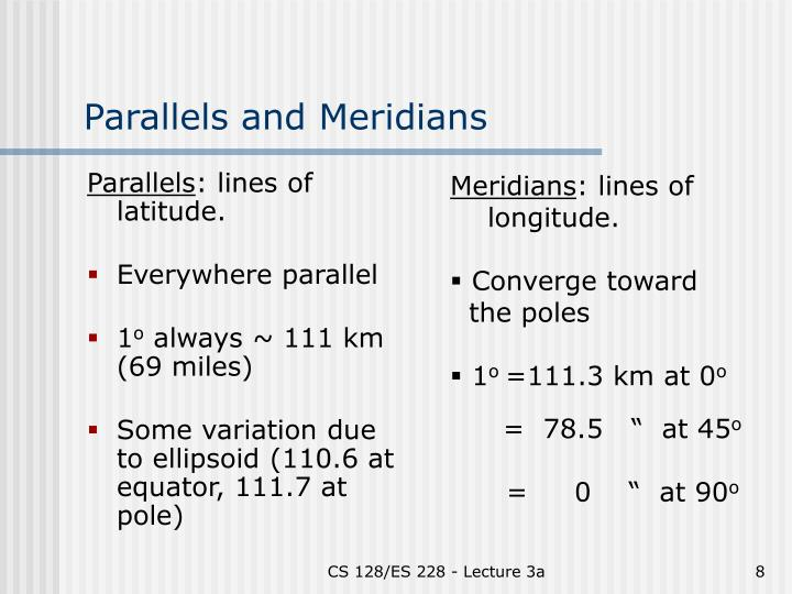 Parallels and Meridians