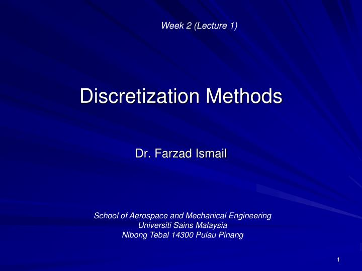 Discretization methods ppt to pdf