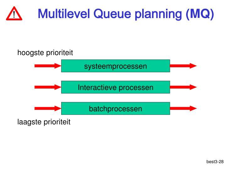Multilevel Queue planning