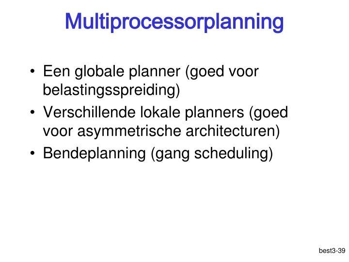 Multiprocessorplanning
