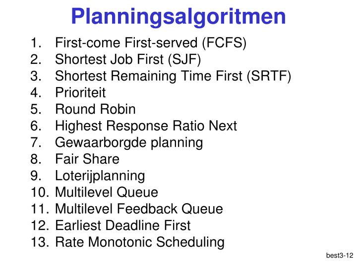 Planningsalgoritmen