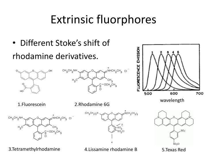 Extrinsic fluorphores