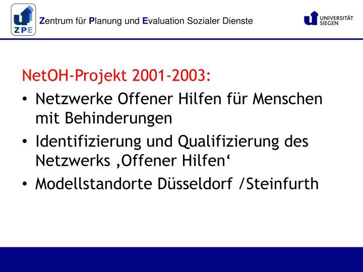 NetOH-Projekt 2001-2003: