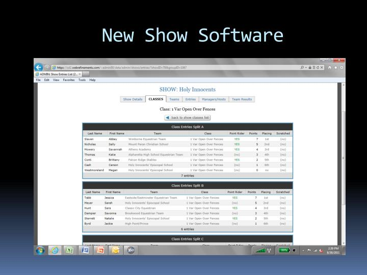 New Show Software