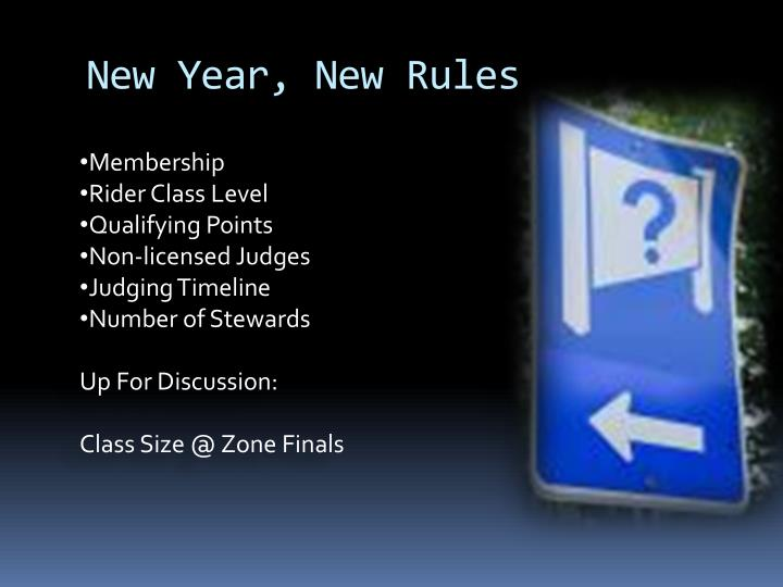 New Year, New Rules