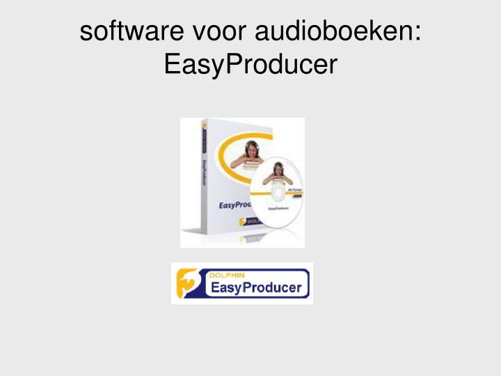 software voor audioboeken: EasyProducer