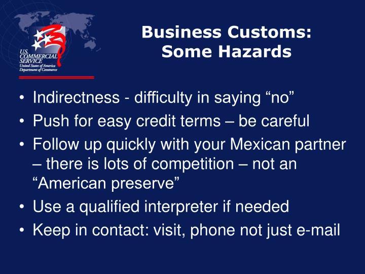 Business Customs: