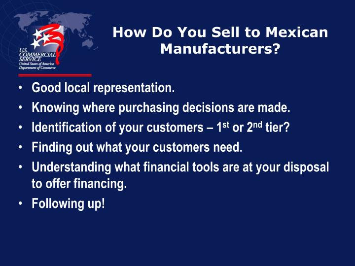 How Do You Sell to Mexican Manufacturers?