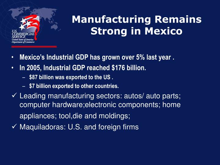 Manufacturing Remains Strong in Mexico