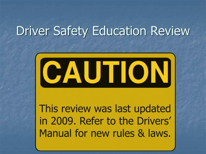driver safety education review n.