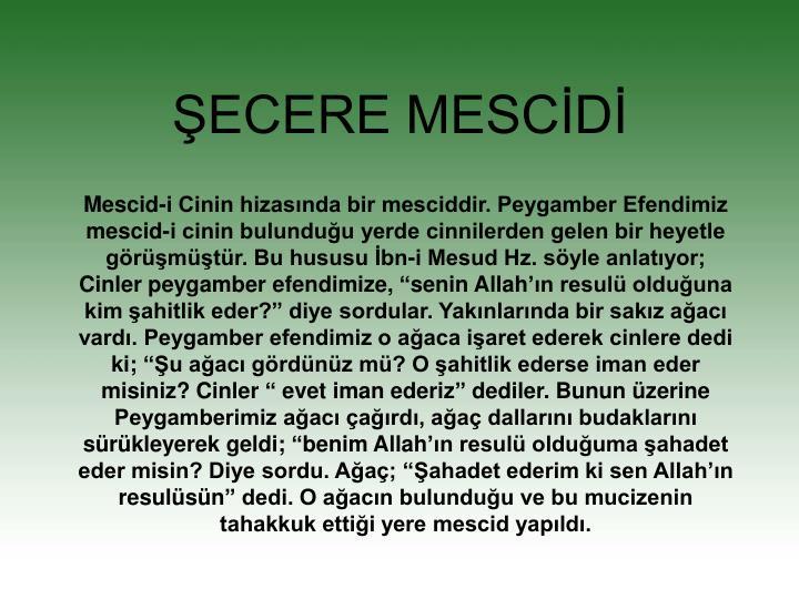 ŞECERE MESCİDİ