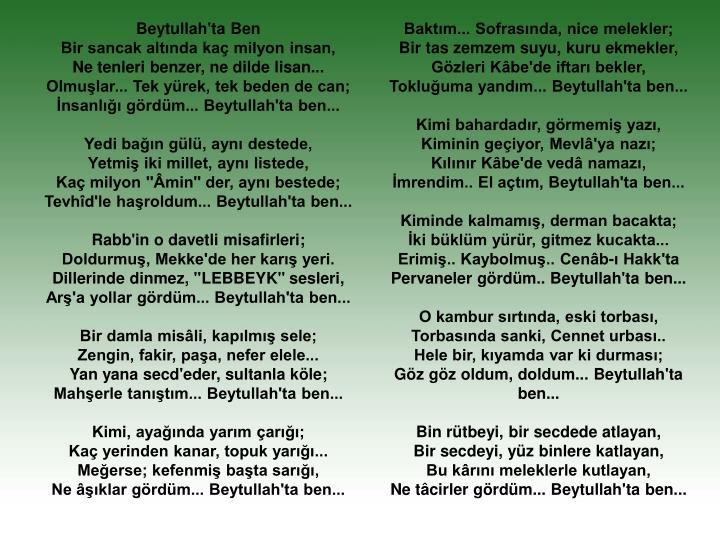Beytullah'ta Ben