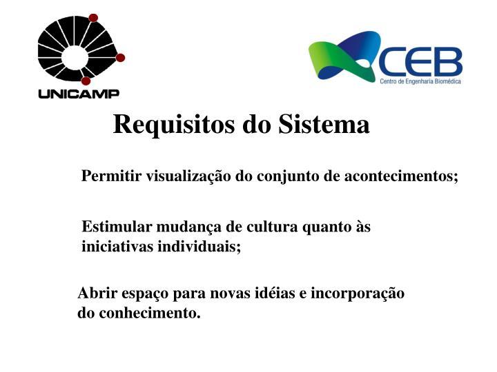 Requisitos do Sistema