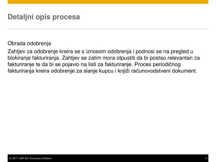 Detaljni opis procesa