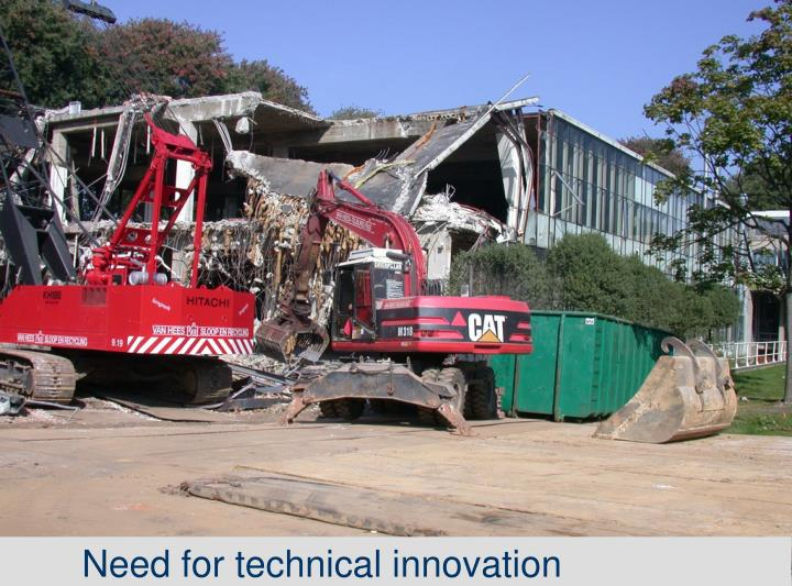 Need for technical innovation