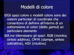 modelli di colore