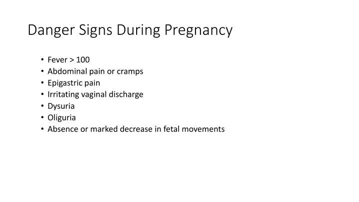 Danger Signs During Pregnancy