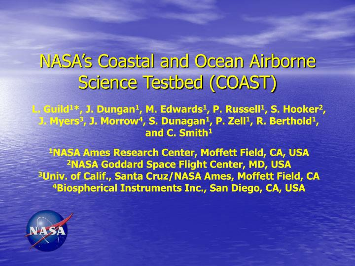 nasa s coastal and ocean airborne science testbed coast n.